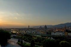 Vue au-dessus des toits de Florence images libres de droits