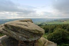 Vue au-dessus des vallées de Brimham R Images stock