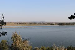 Vue au-dessus du Danube dans Galati, Roumanie photo libre de droits