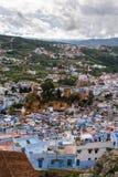 Vue au-dessus du Kasbah de Chefchaouen, Maroc photos libres de droits