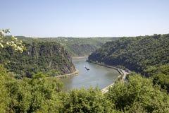 Vue au-dessus du Rhin photo stock