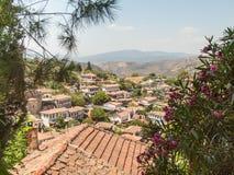 Vue au-dessus du village turc de Sirince Photographie stock libre de droits
