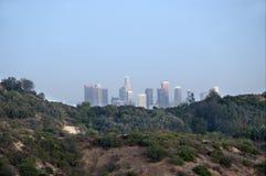Vue au doowntown Los Angeles de Griffith Park Images stock