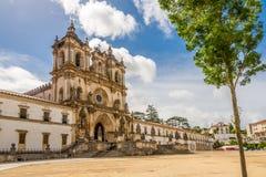 Vue au monastère d'Alcobaca - le Portugal photographie stock libre de droits