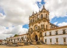 Vue au monastère d'Alcobaca - le Portugal images libres de droits