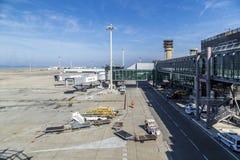 Vue au nouveau terminal à l'aéroport de Marseille Image stock