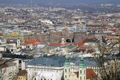 Vue au parasite, Budapest, Hongrie Photos stock