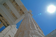 Vue au parthenon, Athènes Photos libres de droits