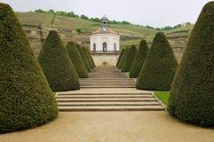 Vue au pavillon dans le château de Wackerbarth dans Radebeul, Allemagne Photo stock