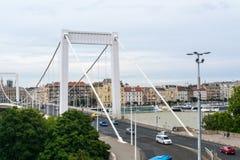 Vue au pont d'Elizabeth à Budapest Photos stock