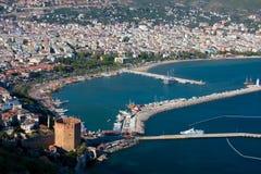 Vue au port d'Alanya Image libre de droits