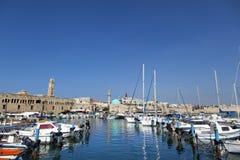 Vieux port d'Acco Photo libre de droits