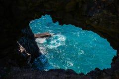 Vue au rivage d'océan Photos stock