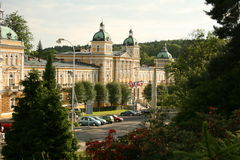 Vue au sanatorium. Marienbad Images libres de droits