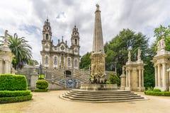 Vue au sanctuaire de notre Madame de Remedios dans Lamego, Portugal photo libre de droits