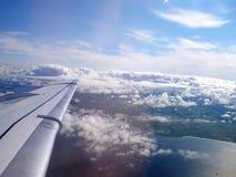 Vue au sol de fenêtre plate Image libre de droits