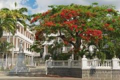 Vue au vieux bâtiment colonial à Port-Louis, Îles Maurice Photographie stock