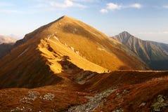 Vue automnale des montagnes de rohace Image stock