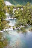 Vue aux lacs Plitvice et au x28 ; Croatia& x29 ; photographie stock