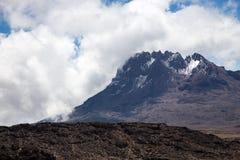 Vue aux montagnes Photos stock