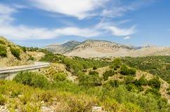 Vue aux montagnes albanaises Image stock