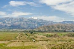Vue aux montagnes albanaises Photographie stock