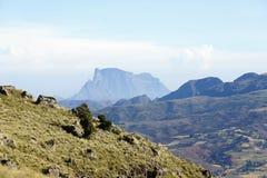 Vue aux montagnes de Simien photographie stock libre de droits