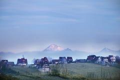 Vue aux montagnes de Tatra, Pologne. Image libre de droits