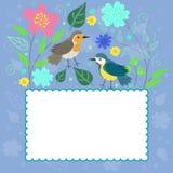 Vue aux oiseaux et aux usines de stylewith de griffonnage Dessins de vecteur illustration stock