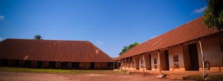 Vue aux palais royaux d'Abomey, Bénin photos stock