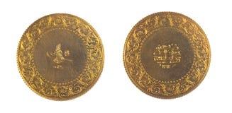 Vue avant et arrière de pièce de monnaie antique Turquie de tabouret Photo libre de droits