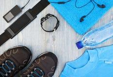 Vue avec des accessoires de sports Photo stock