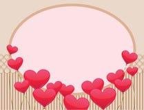 Vue avec des ballons de coeurs Photo libre de droits