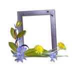 Vue avec des fleurs Photo libre de droits