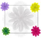 Vue avec des fleurs Photo stock