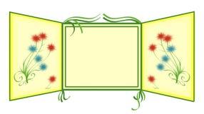 Vue avec des fleurs Image libre de droits