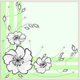 Vue avec des fleurs pour une inscription Images stock