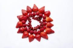 Vue avec des fraises Photos libres de droits