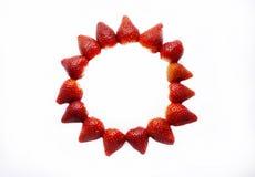 Vue avec des fraises Photo stock