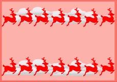 Vue avec des rennes Photos stock