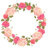 Vue avec des roses de vintage Rétros fleurs décoratives Image pour épouser des invitations, cartes romantiques, livrets Photo libre de droits