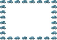 Vue avec des véhicules image stock