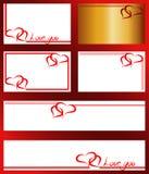 Vue avec deux coeurs pour la Saint-Valentin sur un fond blanc Image libre de droits