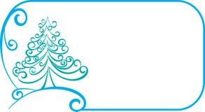 Vue avec l'arbre de Noël illustration stock