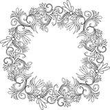 Vue avec la configuration florale Photographie stock