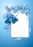 Vue avec la couleur de bleu de cloches de Noël illustration libre de droits