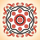 Vue avec la décoration hongroise de motifs illustration stock
