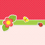 Vue avec la fleur Images libres de droits