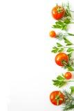 Vue avec la tomate et les herbes Photos libres de droits