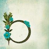 Vue avec le bouquet sur le vieux fond grunge illustration stock